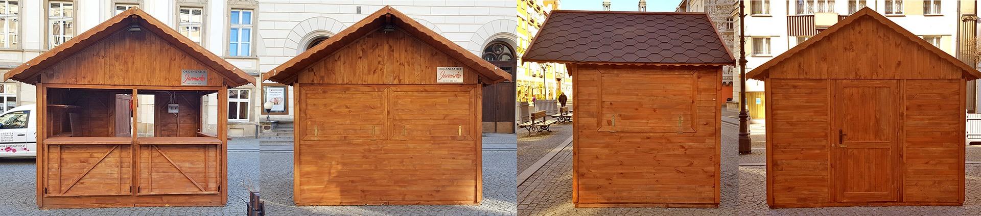 domki drewniane, stragany
